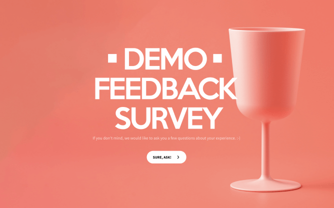 demo feedback survey template