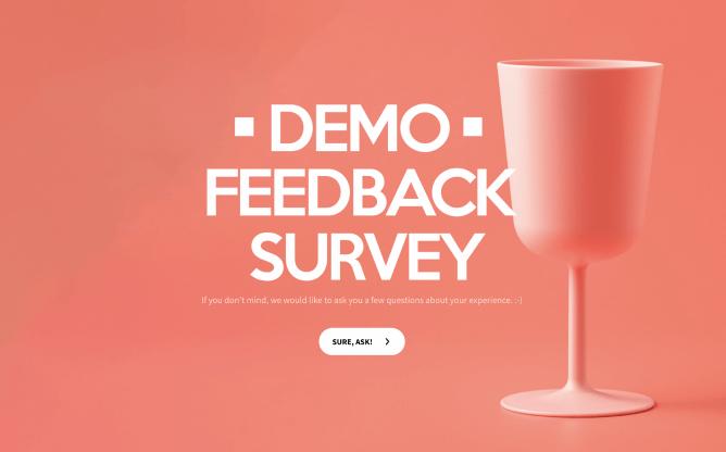 demo feedback survey template