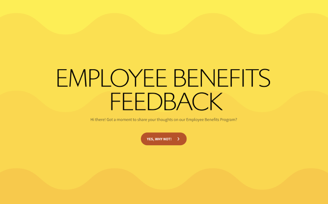 employee benefits feedback survey