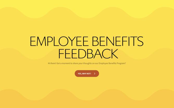 employee benefits feedback survey