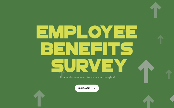 employee benefits survey template