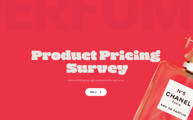 product pricing survey template