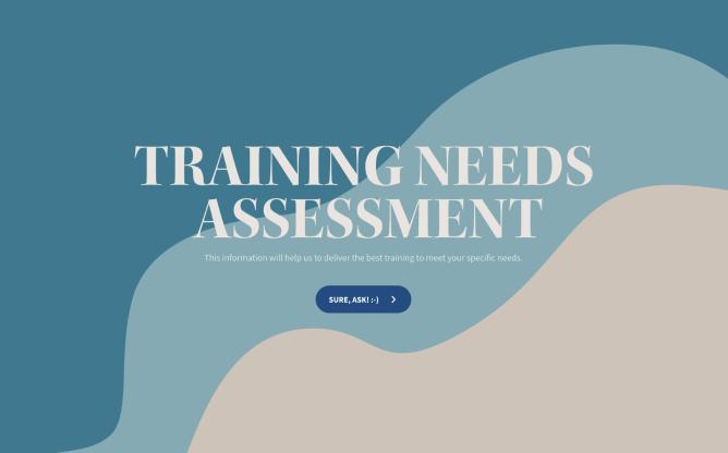 training needs assessment questionnaire template