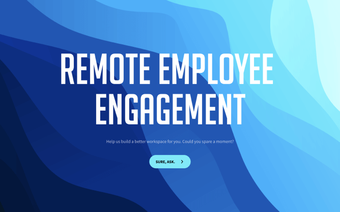 remote employee engagement survey template