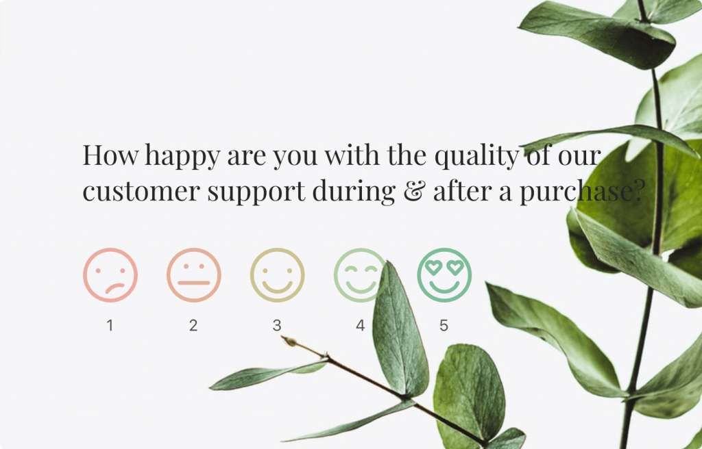 semantic scale example: satisfaction rating