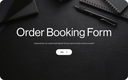 Order booking form template