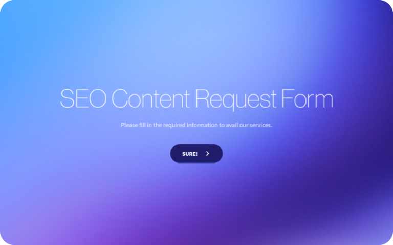 SEO Content Request Form Template