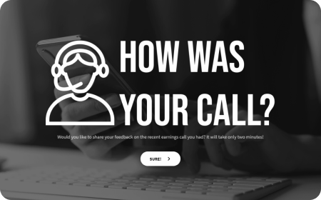 earnings call feedback for template