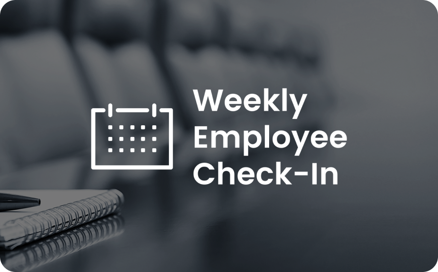 weekly employee check-in template