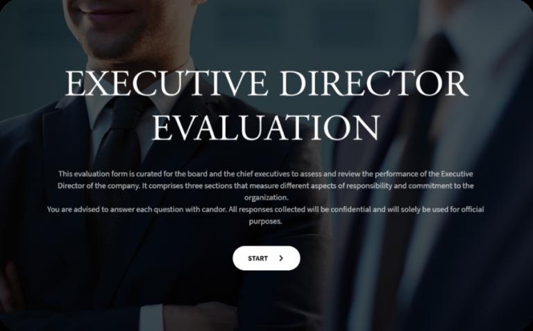 Executive Director Evaluation Form Template
