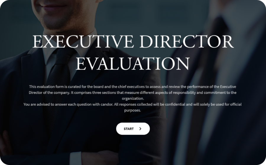 Executive Director Evaluation Form Template