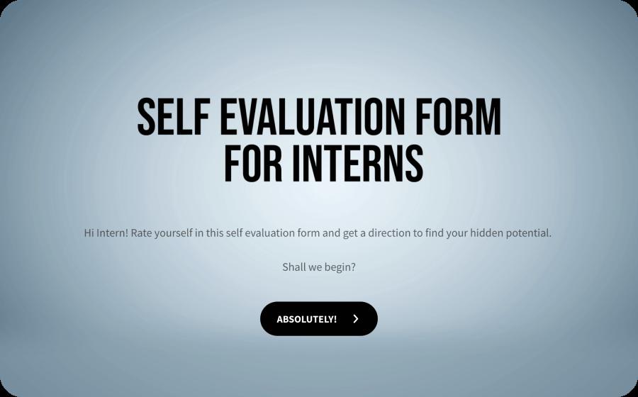 intern self evaluation form template