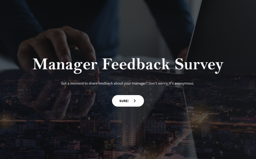 manager feedback survey template