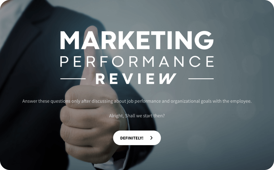 marketing performance review template