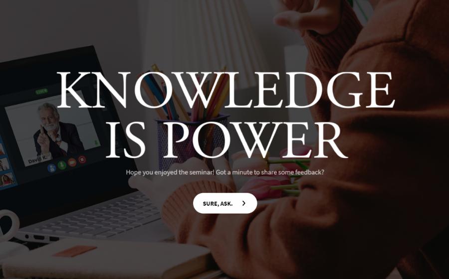 online seminar feedback
