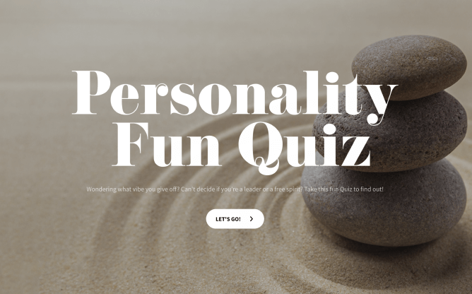 personality fun quiz