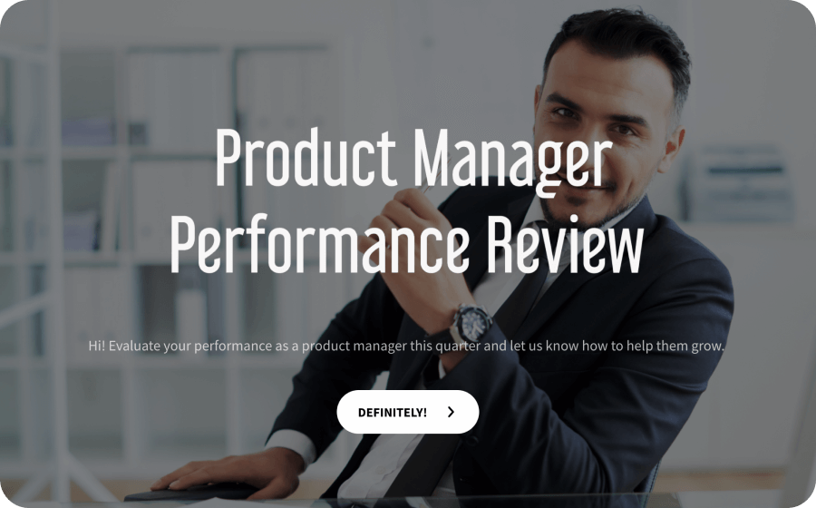 product manager performance review template
