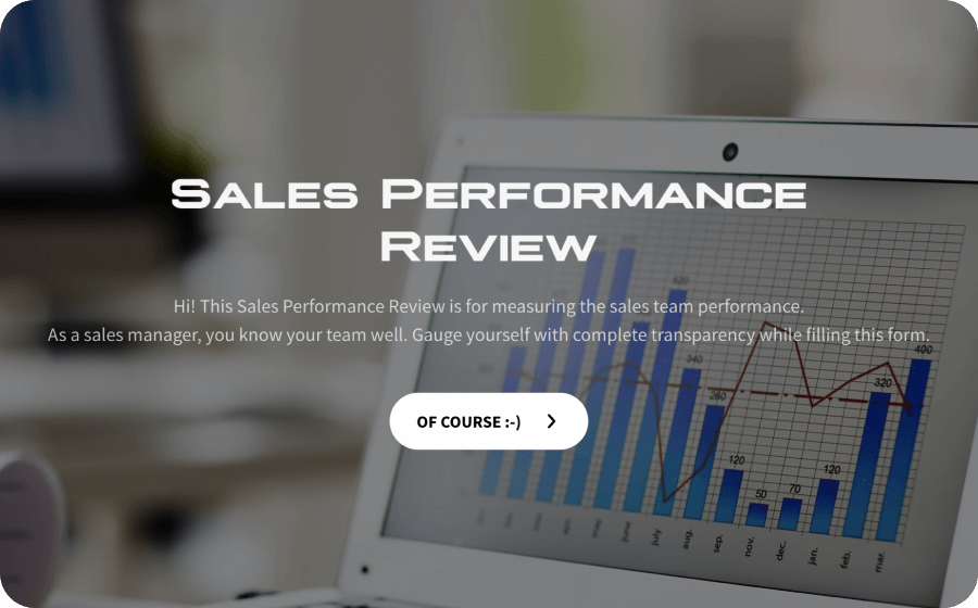 sales performance review template