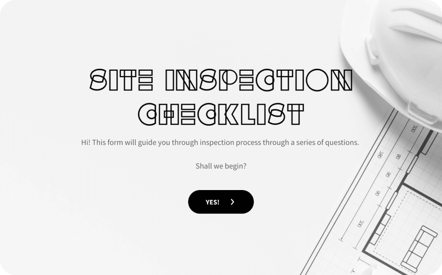 site inspection checklist template