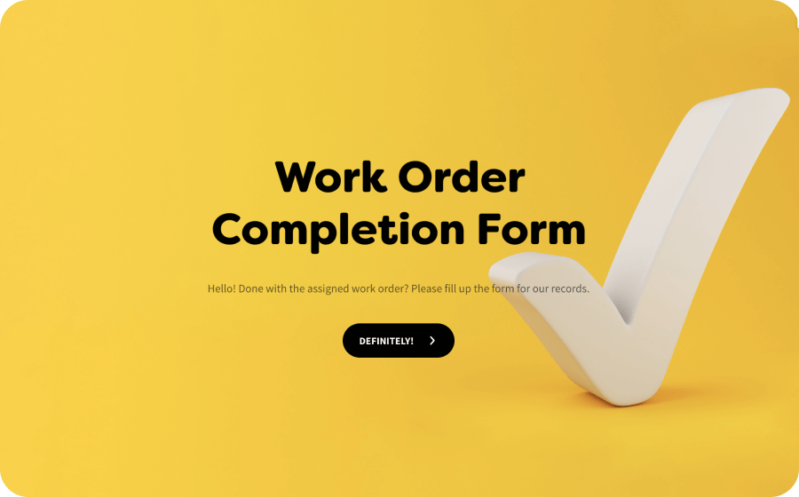 work order completion form template