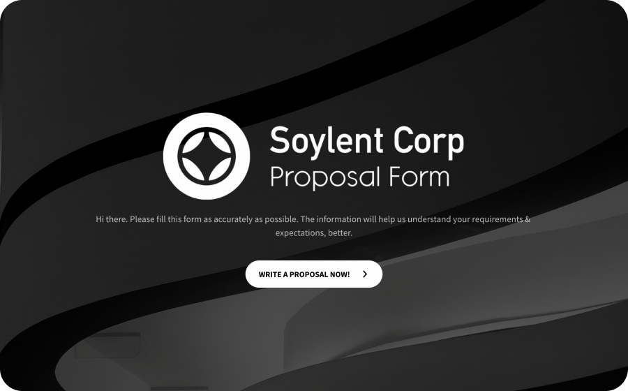 online proposal form template