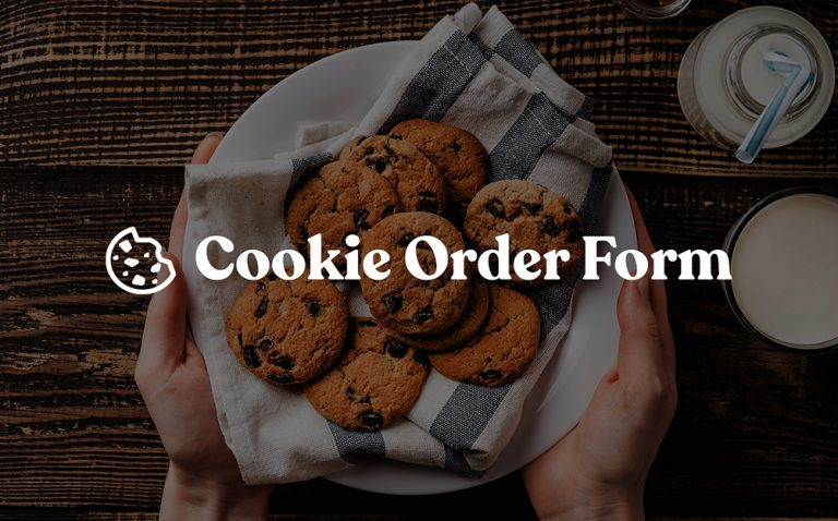 Cookie Order Form Template