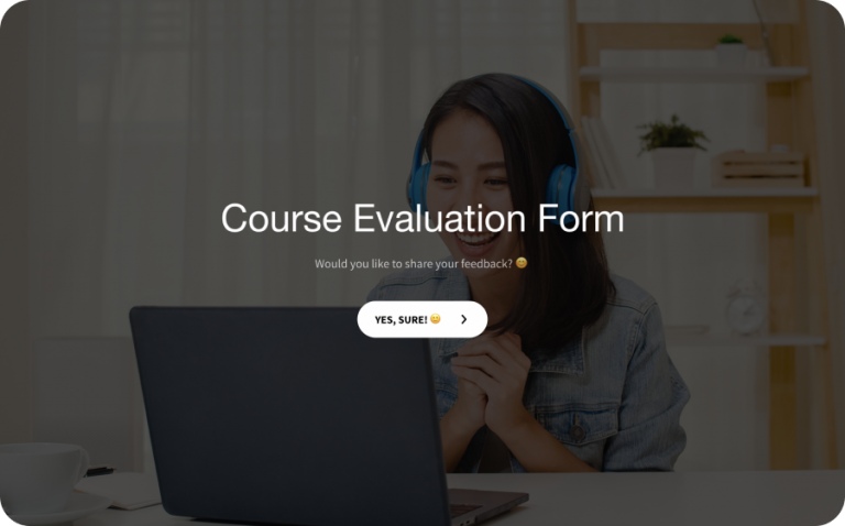 course evaluation form template