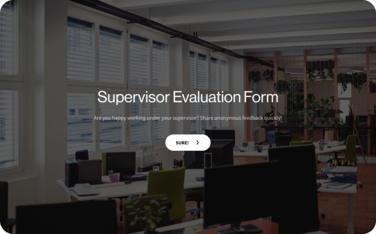 Supervisor Evaluation Form Template