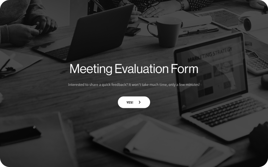Meeting Evaluation Form Template