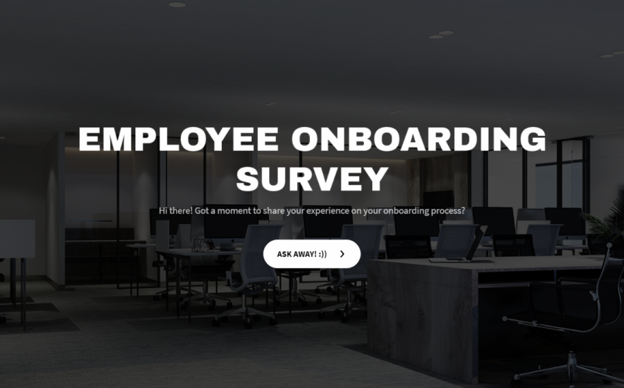 employee onboarding survey template
