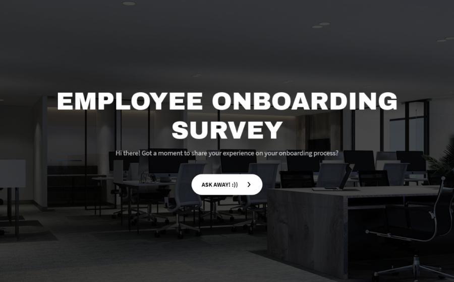 employee onboarding survey template