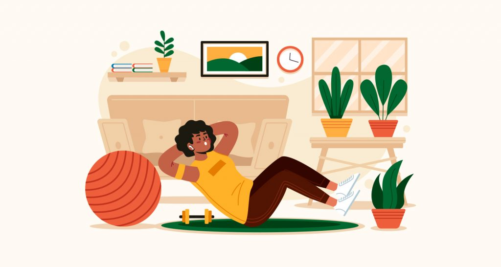 how to stay active when you work from home - employee health