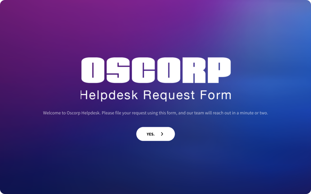 Helpdesk Request Form Template