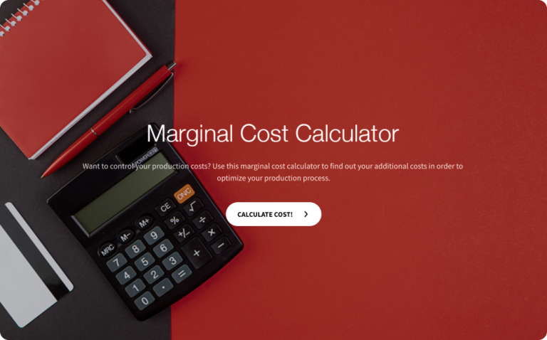 marginal cost calculator