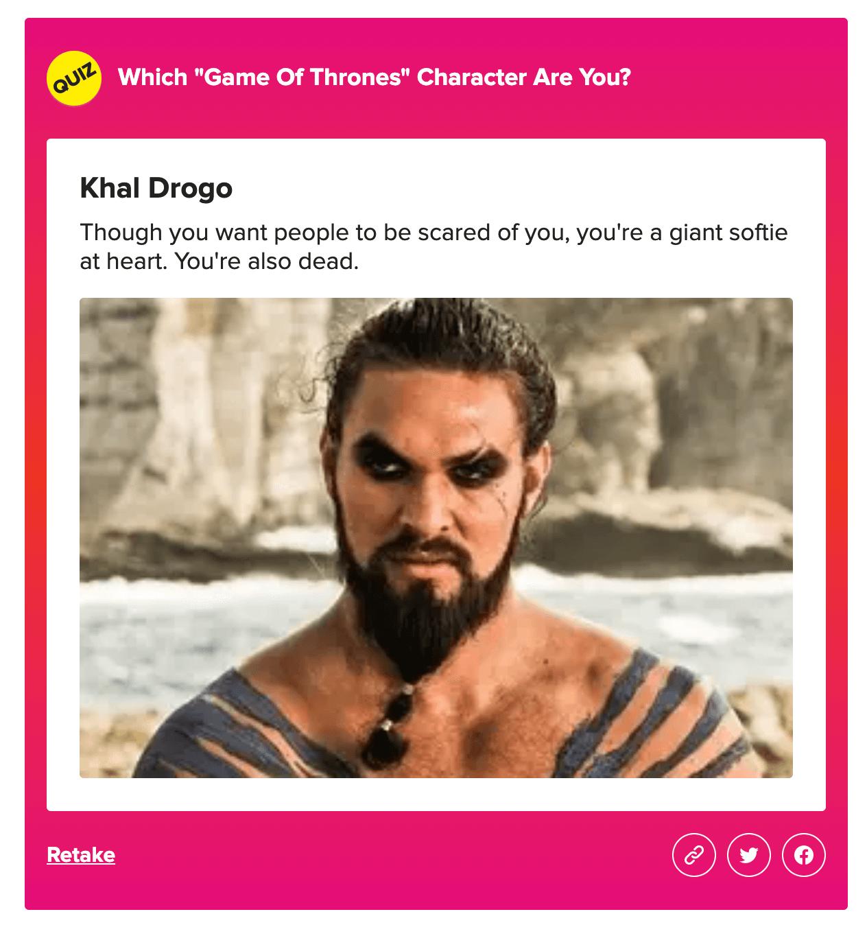 buzzfeed quiz example