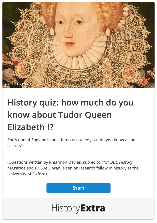 history quiz example