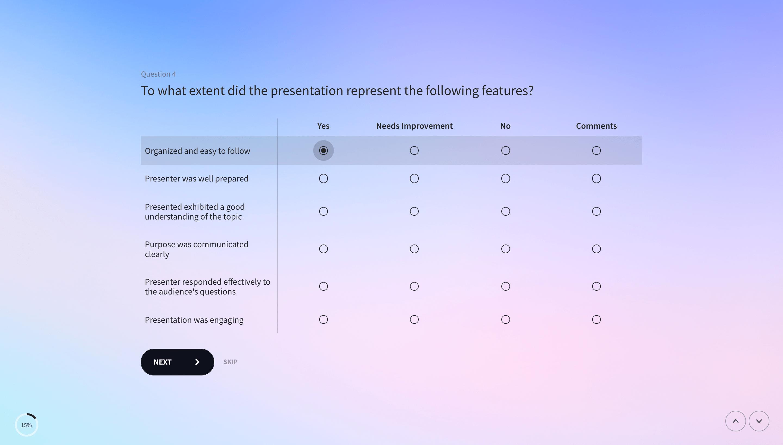 matrix question example