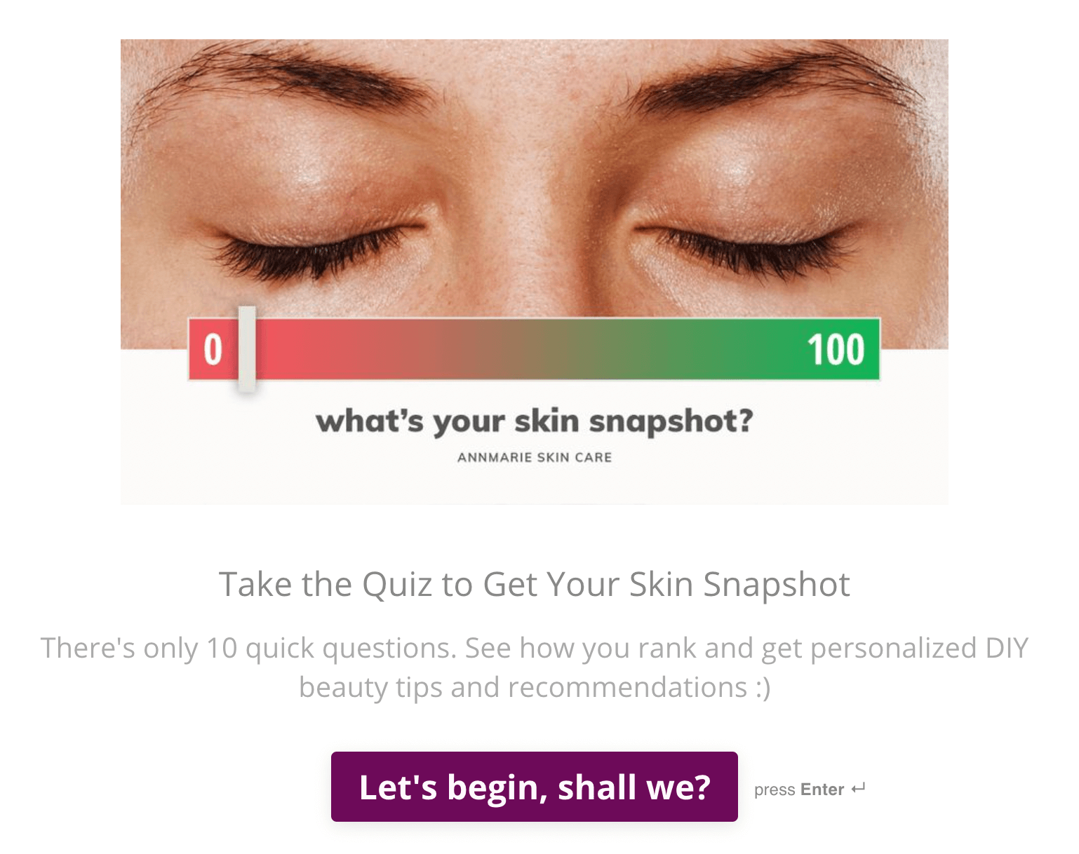 skin snapshot quiz example