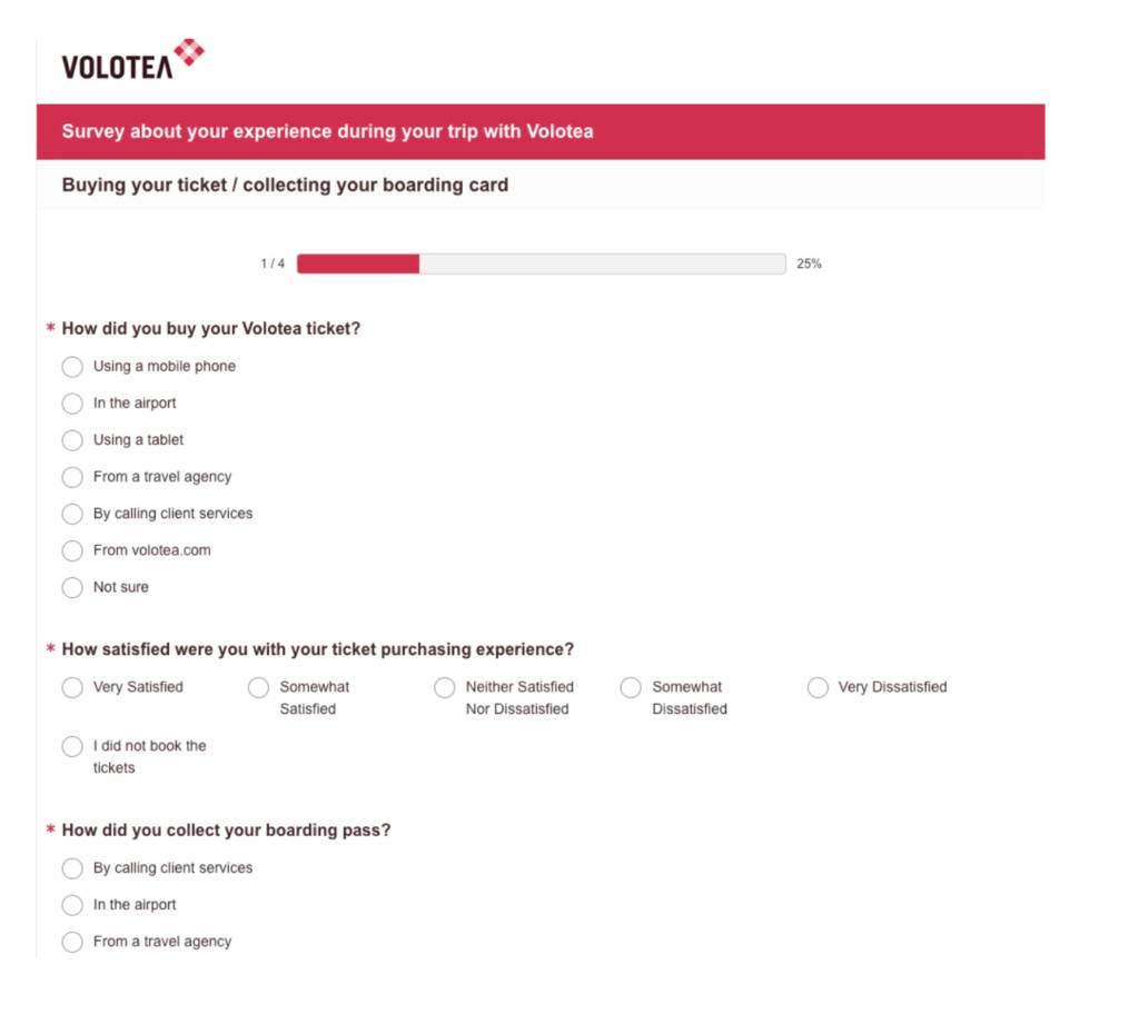volotea feedback form example