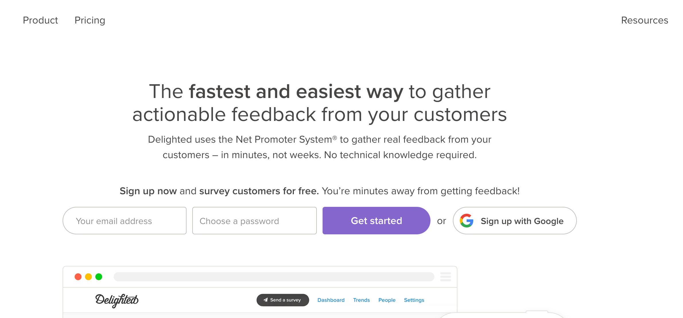 Delighted is one of the best customer experience software that gives you a fantastic platform where you can gather real-time and actionable data.
