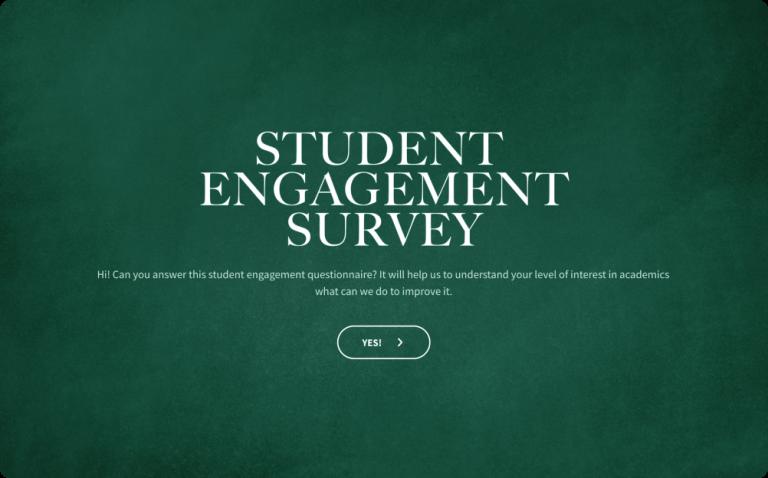 Student Engagement Survey Template