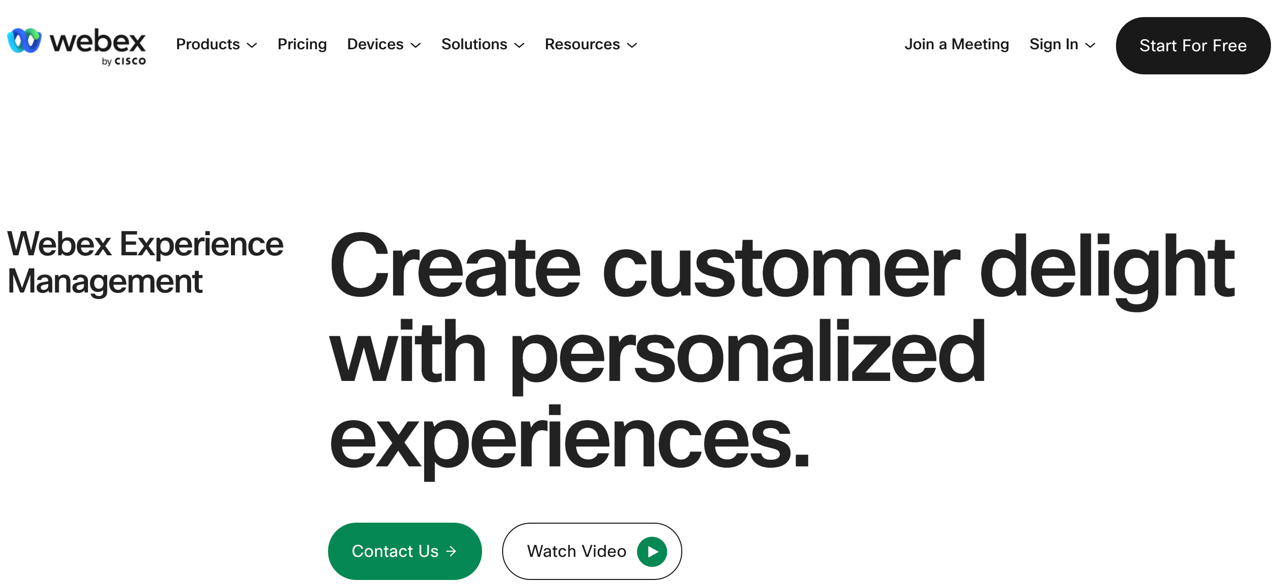 Personalize customer experience end-to-end with Webex Experience Management