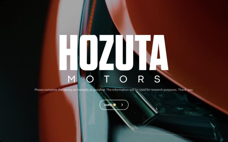 automobile survey template