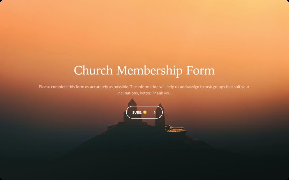 church membership form templates
