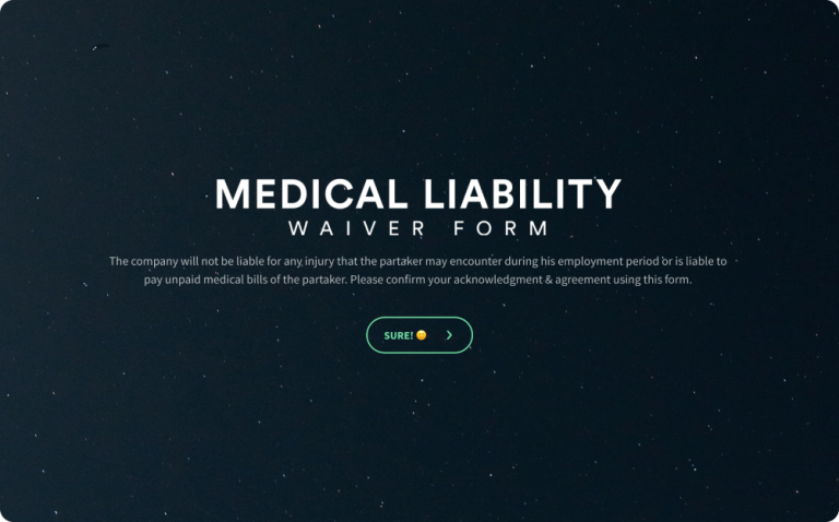 Medical Liability Waiver Form