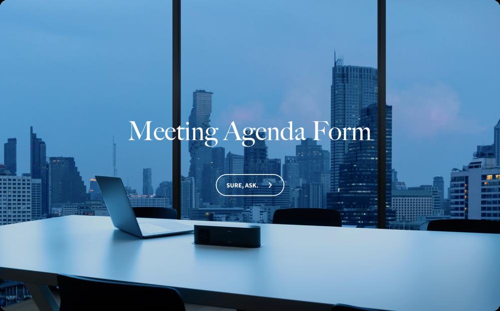 Meeting Agenda Form Template