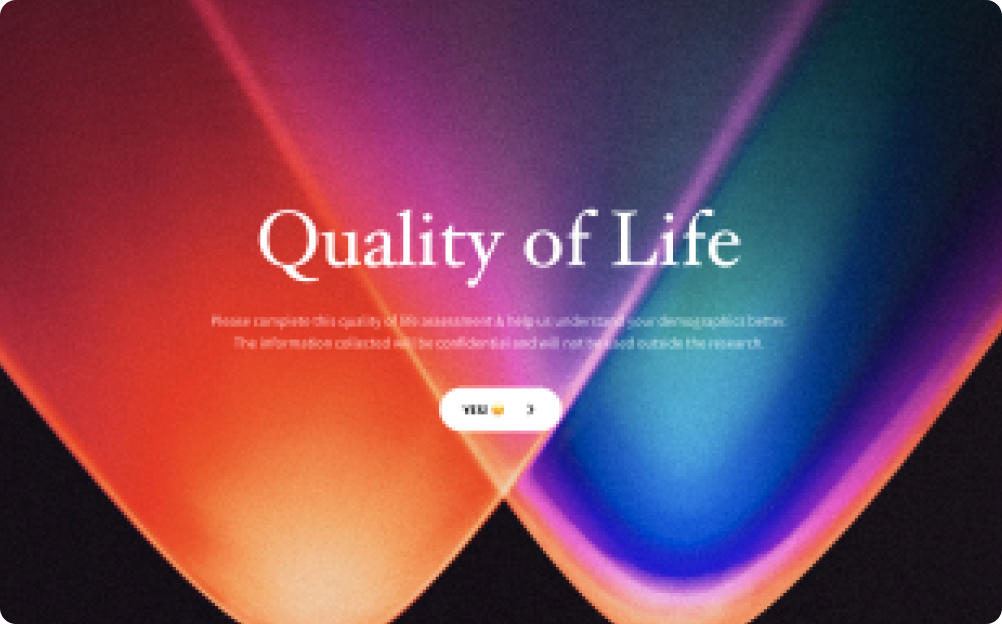 quality of life survey template