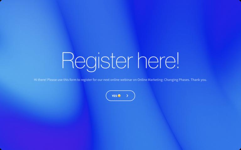webinar registration form template