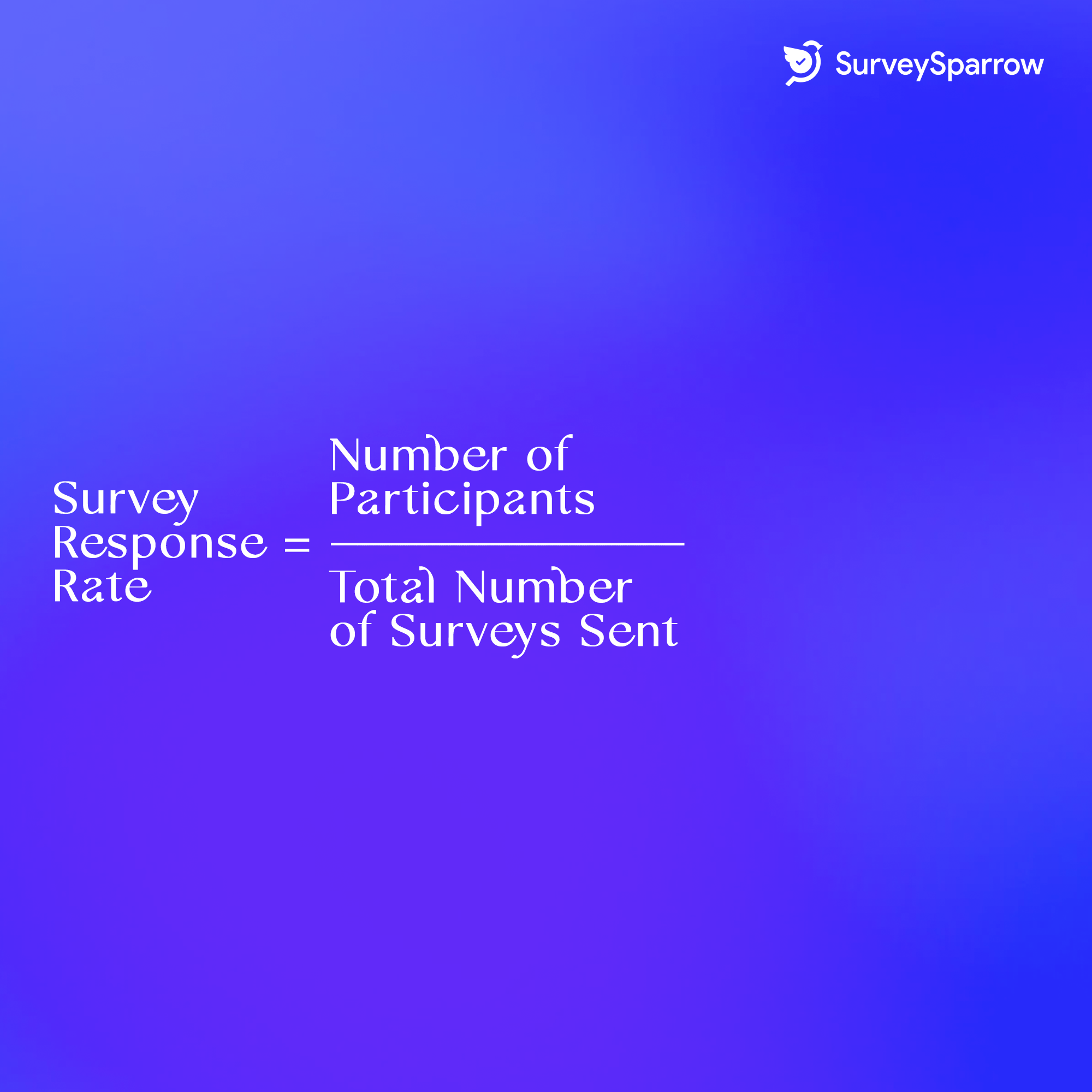 Survey response rate