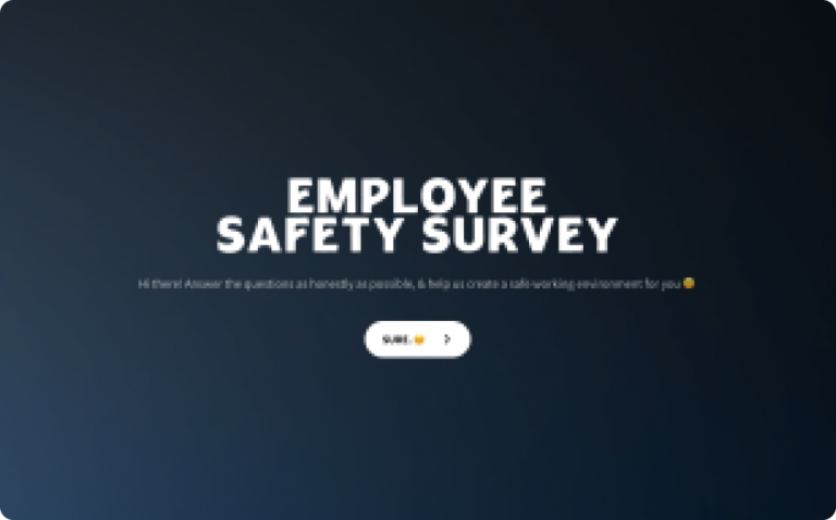 employee safety survey template